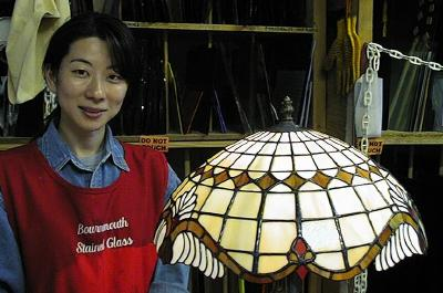 Kunie's Tiffany Lampshade completed